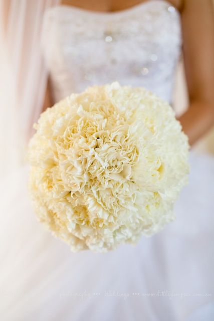 Bouquet of Cream Carnations