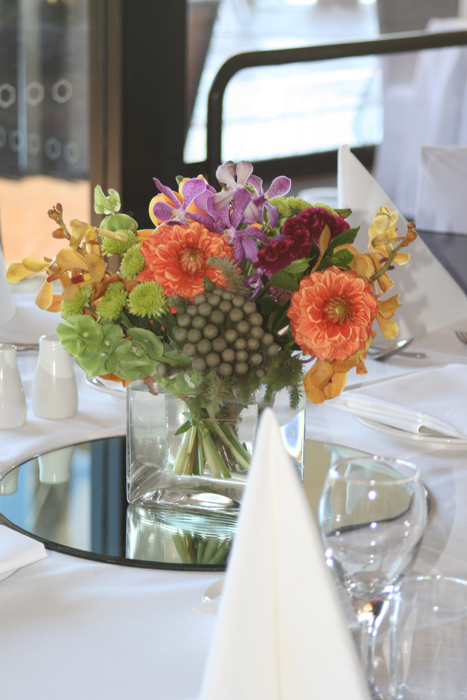 Bright and Textural Table Arrangement