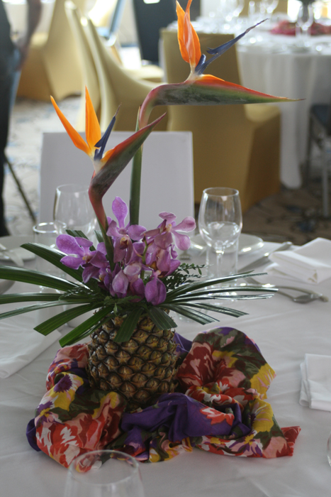 Hawaiian Theme - Tropical Pineapple Arrangement 2