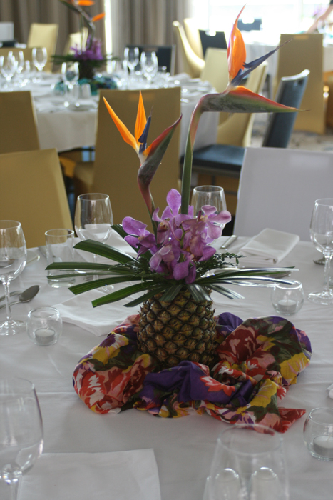 Hawaiian Theme - Tropical Pineapple Arrangement