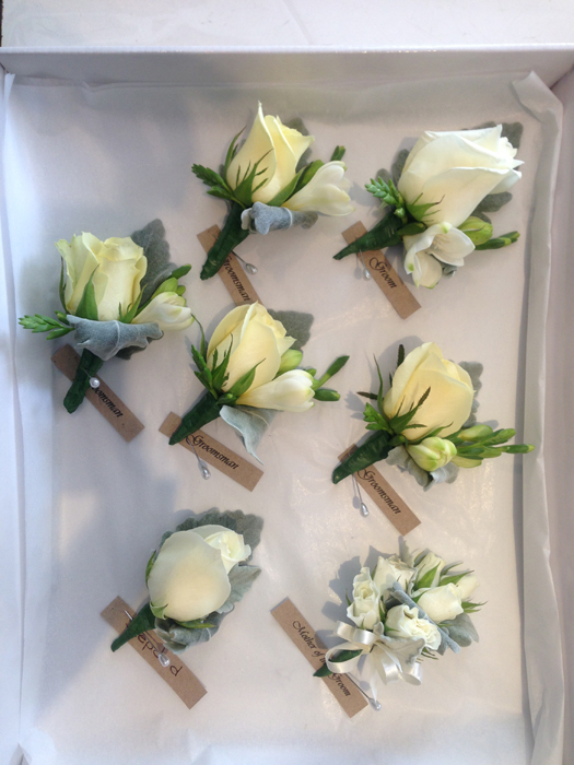 Pale Lemon and Cream Buttonholes
